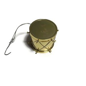 *6 for $30* Vintage gold drum Christmas ornament